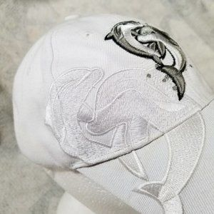 Freeport Bahamas Heavily Embroidered Dolphins Hat